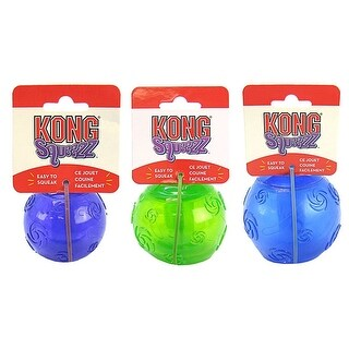 Medium Kong Squeezz Round Fetch Ball Dog Toy