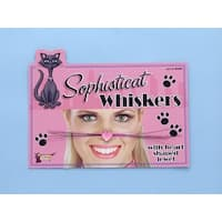 Cat Woman Kitten Costume Whiskers - Pink