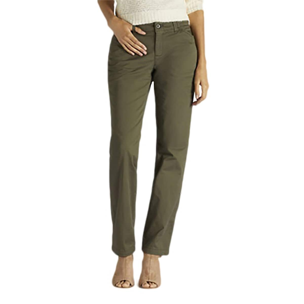 Lee Womens Midrise Fit Essential Chino Pant