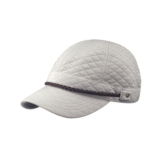 Diamond Pattern Quilted Cotton Cap