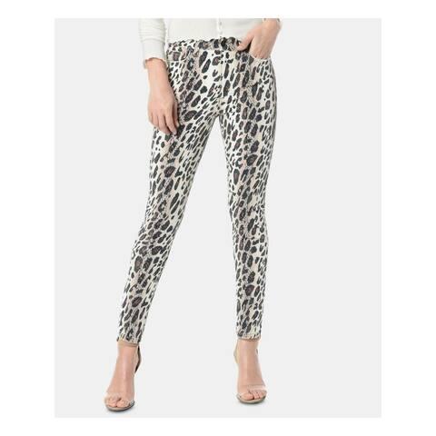 JOE'S Womens Brown Animal Print Skinny Jeans Size 24 Waist