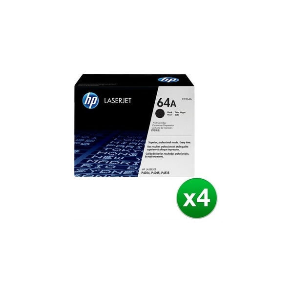 HP 64A Black Original LaserJet Toner Cartridge (CC364A)(4-Pack)