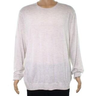 VInce. Stone Beige Mens Size 2XL Lightweight Crewneck Sweater