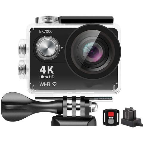 4K WiFi Sports Action Camera Ultra HD Waterproof DV Camcorder 12MP 170 Degree Wide Angle - 2K DCI 1080p