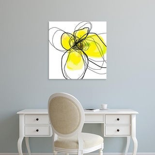 Easy Art Prints Jan Weiss's 'Yellow Petals Three' Premium Canvas Art