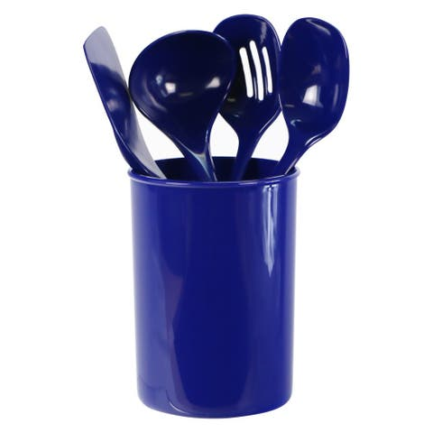 Reston Lloyd 82951 5-Piece Calypso Basics Utensil Holder Set, Indigo