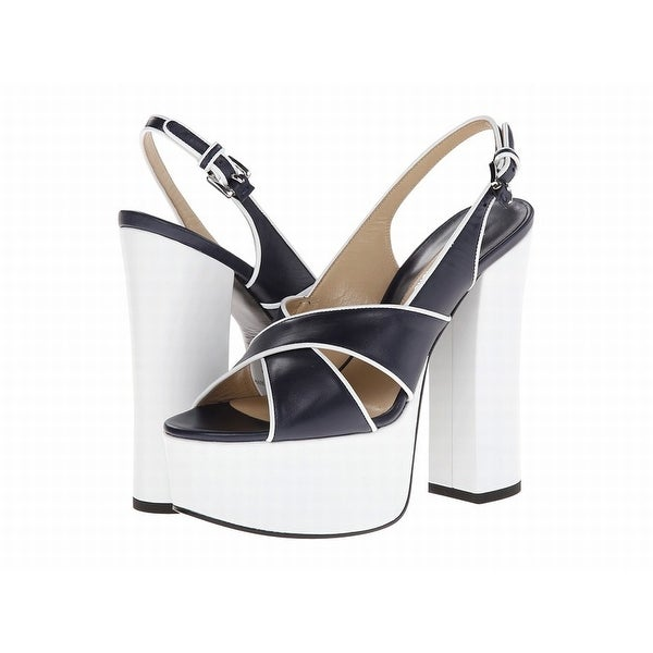 Michael Kors NEW White Shoes 7.5M Platforms Wedges Leather Heels
