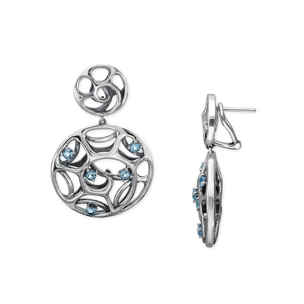 Evert DeGraeve 1 1/2 ct Baby Blue Topaz Earrings in Sterling Silver