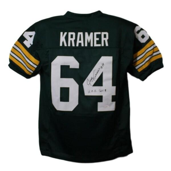 2d921b79acf44 Shop Jerry Kramer Autographed Green Bay Packers XL Green Jersey HOF JSA -  Free Shipping Today - Overstock - 22390158