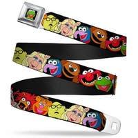 Kermit Face Full Color Black Muppets Faces Black Webbing Seatbelt Belt Seatbelt Belt