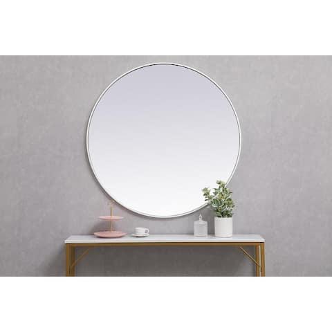 Carson Carrington Labbemala Metal Frame Round Mirror