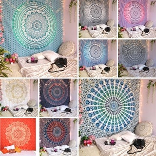 Link to Bohemian Mandala Tapestry Wall Hanging Indian Gold Throw Similar Items in Decorative Accessories
