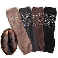 Miss Pearly Legs Leg Warmers With Pearls And Crystals
