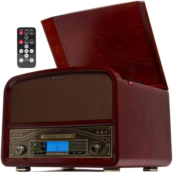 TechPlay TCP9560 CH, High Power 20W Retro wooden 3 speed Blueto