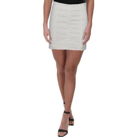 Free People Womens Modern Femme Straight Skirt Striped Seamed - 6