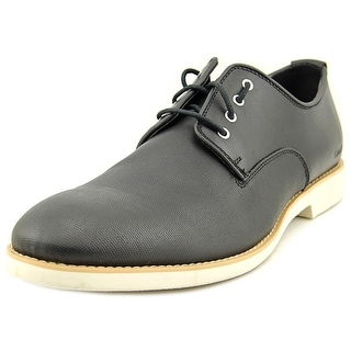 Calvin Klein Jeans Chaz Men Plain Toe Leather Black Oxford