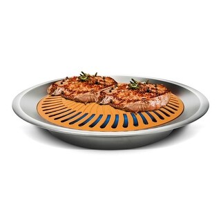"Gotham Steel Stove Top Grill Pan - 13"" x 2"""