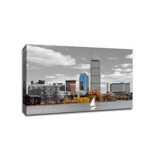 Boston - Touch of Color Skylines - 24x16 Gallery Wrapped Canvas Wall Art ToC