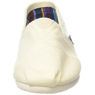 Kids Toms Girls Classic Canvas Slip On Loafers - 13 youth