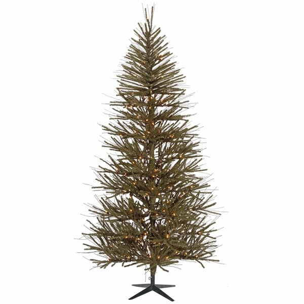 3' Pre-Lit Vienna Twig Artificial Christmas Tree - Clear Lights - brown