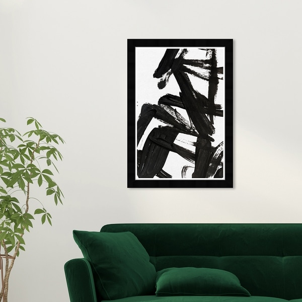 Wynwood Studio 'Mindful Always' Abstract Black Wall Art Framed Print. Opens flyout.