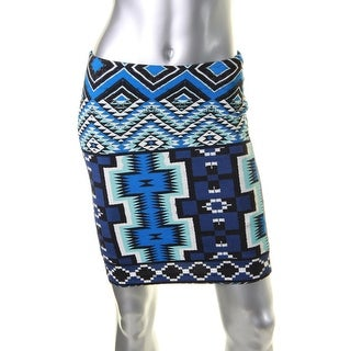 Karen Kane Womens Pencil Skirt Printed Mini - S
