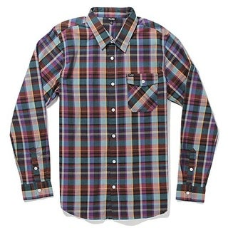 LRG Men's Research Collection Long-Sleeve Plaid Woven Shirt - Small