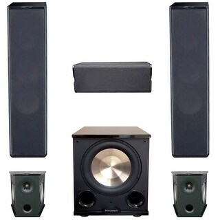 Premier Acoustic 5.1 Home Theater System Bundle with 2 PA-6F Tower Speakers, 2 PA-6S Surrounds, 1 PA-6C Center Channel Speaker,