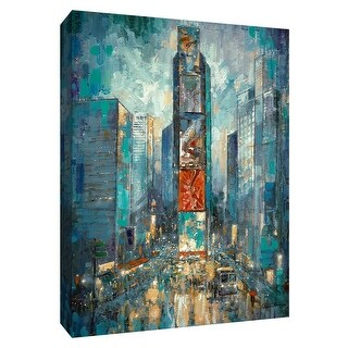 """PTM Images 9-148439  PTM Canvas Collection 10"""" x 8"""" - """"City of Lights"""" Giclee New York Art Print on Canvas"""
