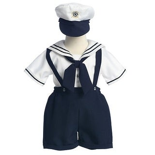 Baby Toddler Boys White Navy Sailor Easter Outift Set 12M-4T