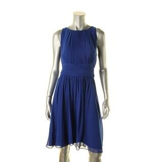 Lauren Ralph Lauren Womens Evening Dress Chiffon Ruched
