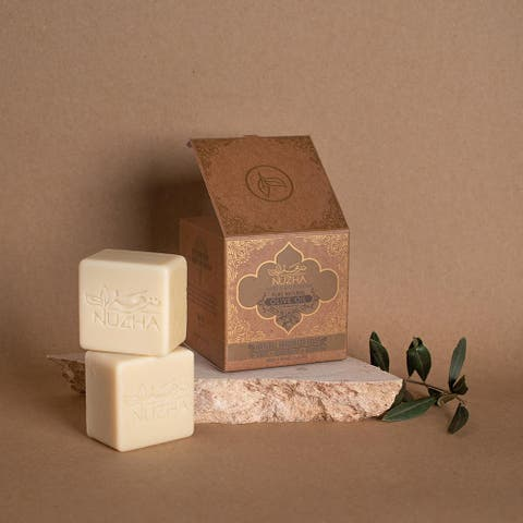 OLIVE OIL & LAUREL OIL SOAP & LOOFA Organic Vegan Handmade Soap Cruelty Free