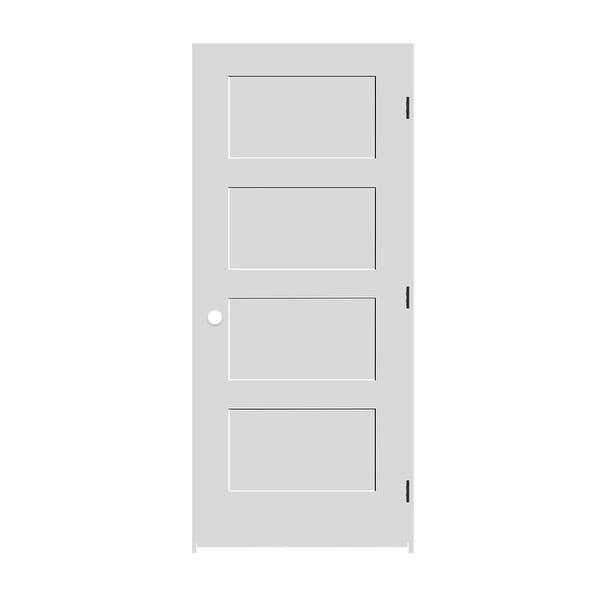 Shop Trimlite 3068138 8444lh10b714 36 By 80 Shaker 4 Panel