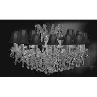 Chandelier Crystal Lights Fixture Pendant 14 Lights Silver