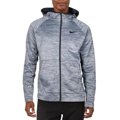 Nike Mens Hoodie Sweatshirt Workout - Blue - M