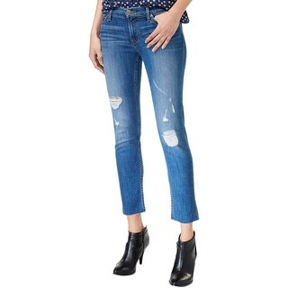 Hudson Womens Muse Cropped Jeans Medium Wash Slim Fit
