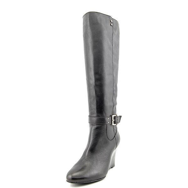 Alfani Asche   Round Toe Leather  Knee High Boot