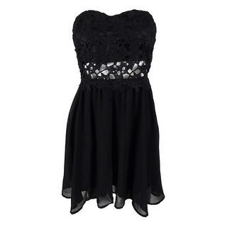 Teeze Me Juniors' Strapless Lace Dress