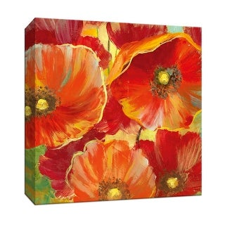 "PTM Images 9-146725  PTM Canvas Collection 12"" x 12"" - ""Poppy Garden Detail I"" Giclee Flowers Art Print on Canvas"