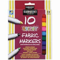 Bright Fabric Markers 10/Pkg-