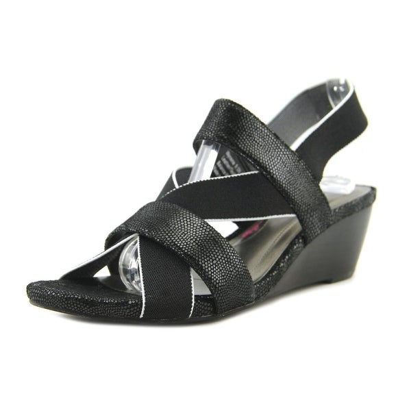 Ros Hommerson Wynona Women Open Toe Synthetic Black Sandals