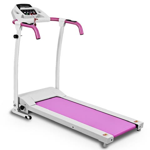 Costway 800W Folding Treadmill Electric /Support Motorized Power