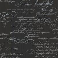 Brewster 2532-20461 Ferdinand Black Poetic Script Wallpaper - ferdinand black