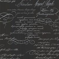 Brewster 2532-20461 Ferdinand Black Poetic Script Wallpaper - ferdinand black - N/A