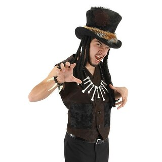 Voodoo Medicine Man Witch Doctor Hat Adult Costume Accessory One Size - Brown