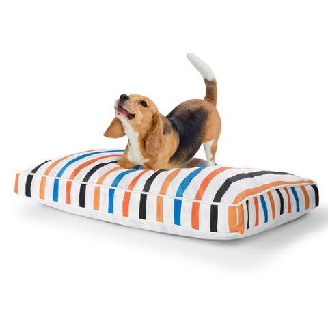 """Bold Bengal Striped Pillow Dog Bed with Removable Cover - 24"""" x 36"""" x 3"""""""
