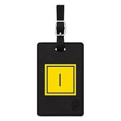 Centon Electronics - Otm Monogram Black Leather Bag Tag, Inversed, Electric - I