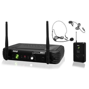 Premier Series Professional UHF Wireless Microphone System, Includes Body-Pack Transmitter, Headset Mic & Lavalier Mic