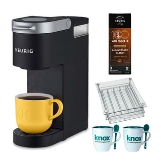 Keurig K-Mini Single Serve K-Cup Pod Coffee Maker (Black) Bundle