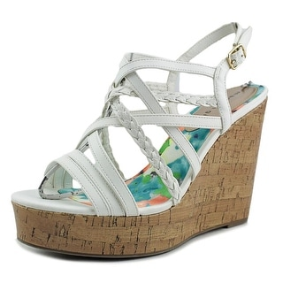 Madden Girl Eagerr Open Toe Synthetic Wedge Heel